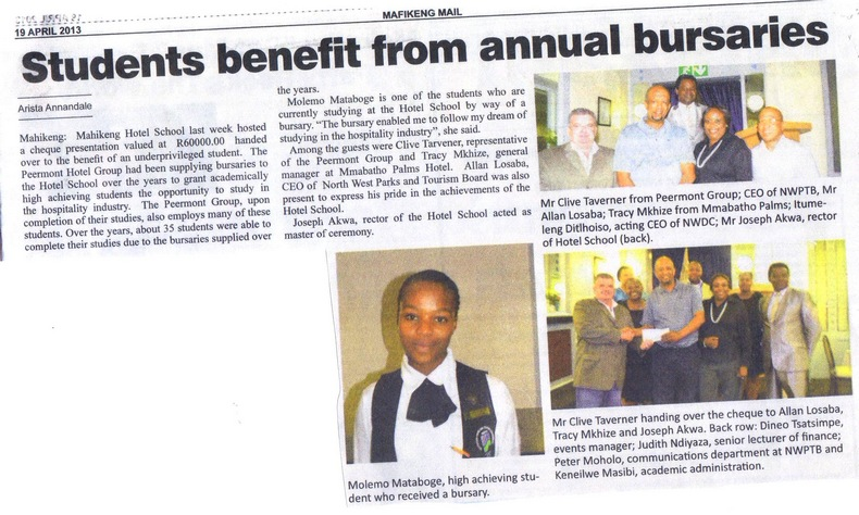 Students Benefit from Annual Bursaries